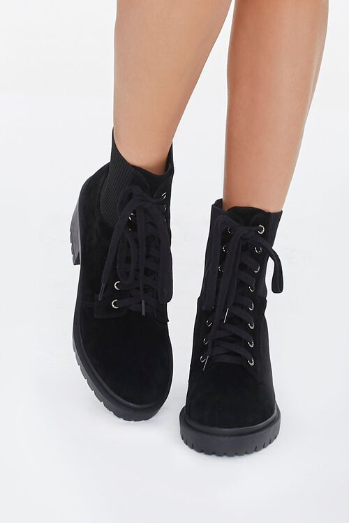 Lace-Up Sock Ankle Boots, image 4