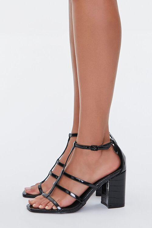 Caged Single-Strap Block Heels, image 2