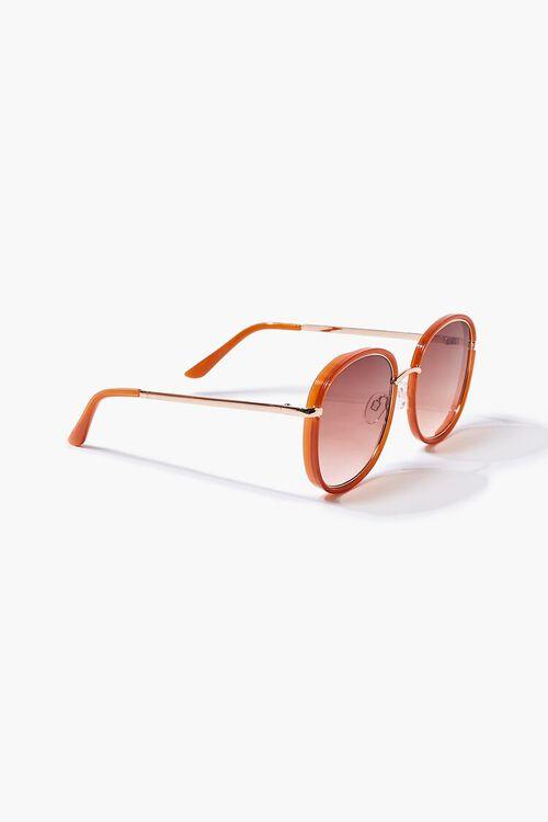 RUST/RUST Oval Metal Sunglasses, image 3