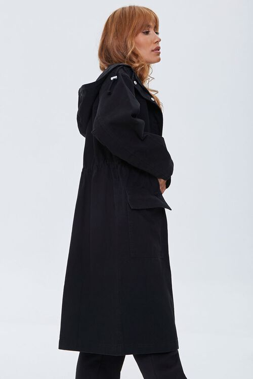 Drawstring Hooded Longline Jacket, image 2