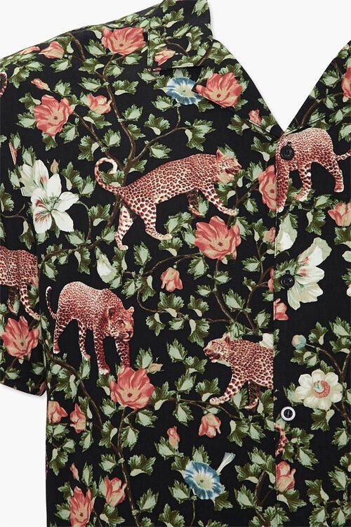 Floral Leopard Print Classic Shirt, image 3