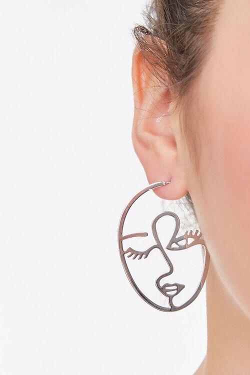 Cutout Face Drop Earrings, image 1
