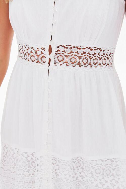 WHITE Lace-Trim Cami Dress, image 5