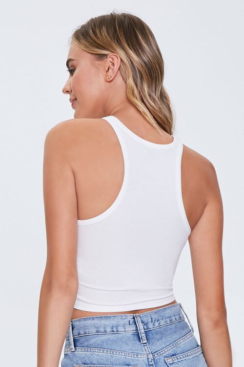 Cropped Racerback Tank Top, image 3