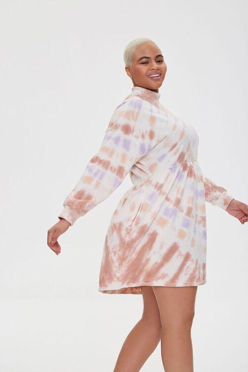 Plus Size Tie-Dye Mini Dress, image 2