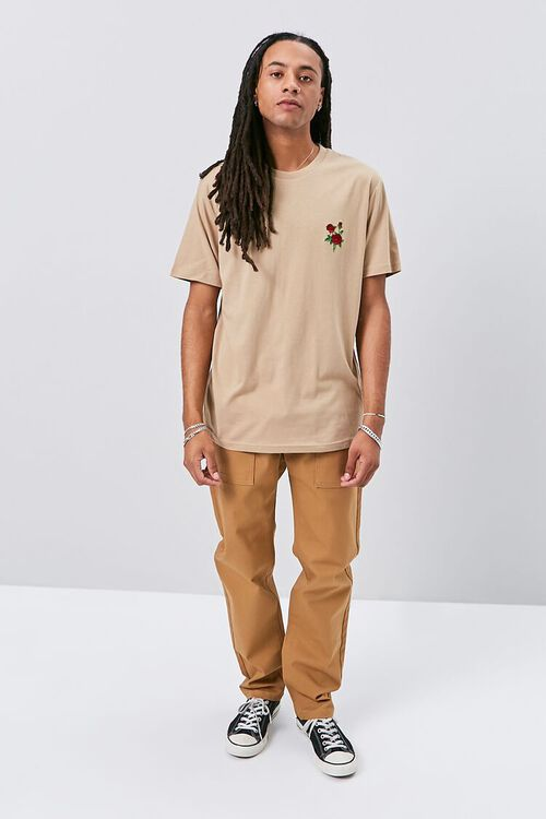 Rose Embroidered Graphic Tee, image 4