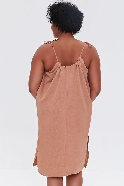 Plus Size Self-Tie Cami Shift Dress, image 3