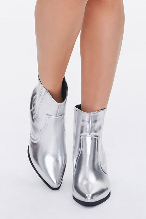 Faux Leather Pointed Toe Booties, image 4