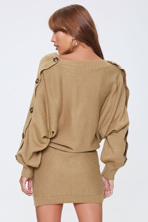 Button-Trim Sweater Dress, image 3