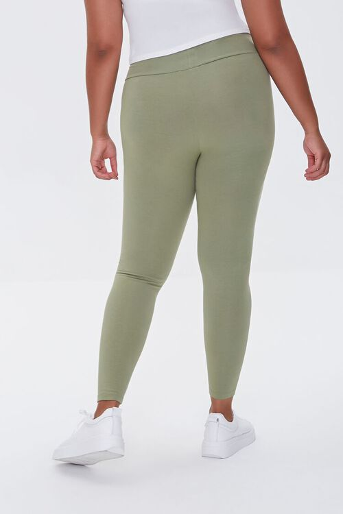 OLIVE Plus Size Basic Organically Grown Cotton Leggings, image 4