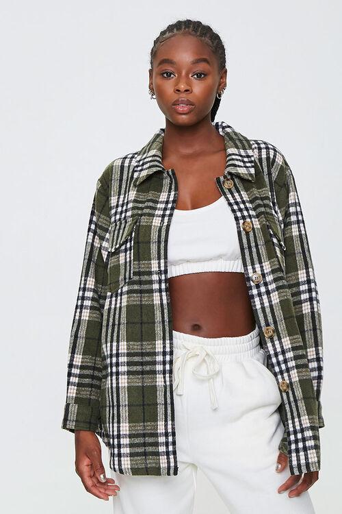 Plaid Button-Front Jacket, image 1