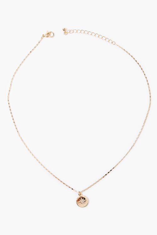 Rhinestone Star Round Charm Necklace, image 2