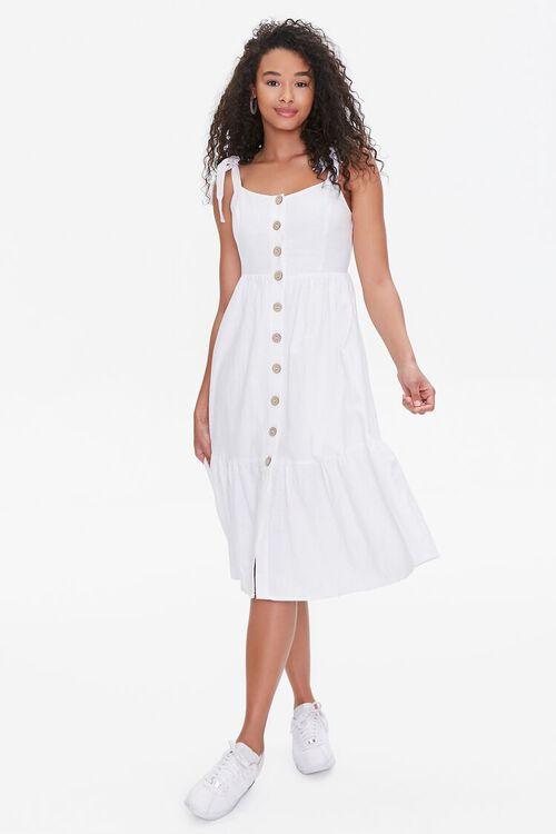 Buttoned Self-Tie Midi Dress, image 4
