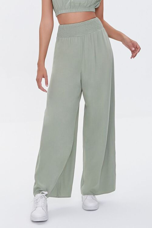 Crop Top & Wide-Leg Pants Set, image 5