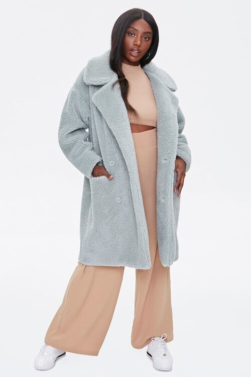 Faux Shearling Longline Coat, image 4