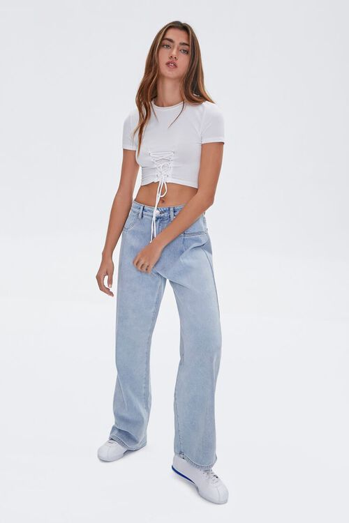 Lace-Up Cropped Tee, image 4