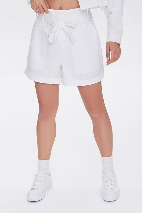 Cuffed Sash-Belt Shorts, image 2