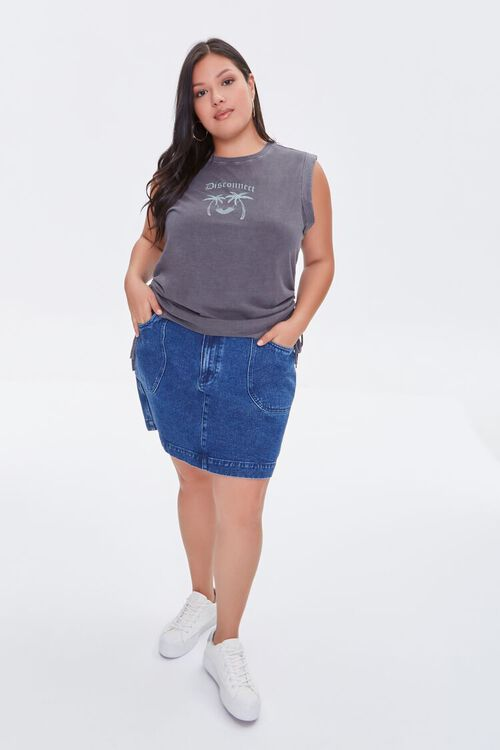 Plus Size Disconnect Muscle Tee, image 4