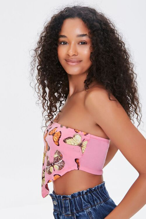 Butterfly Print Tube Top, image 2