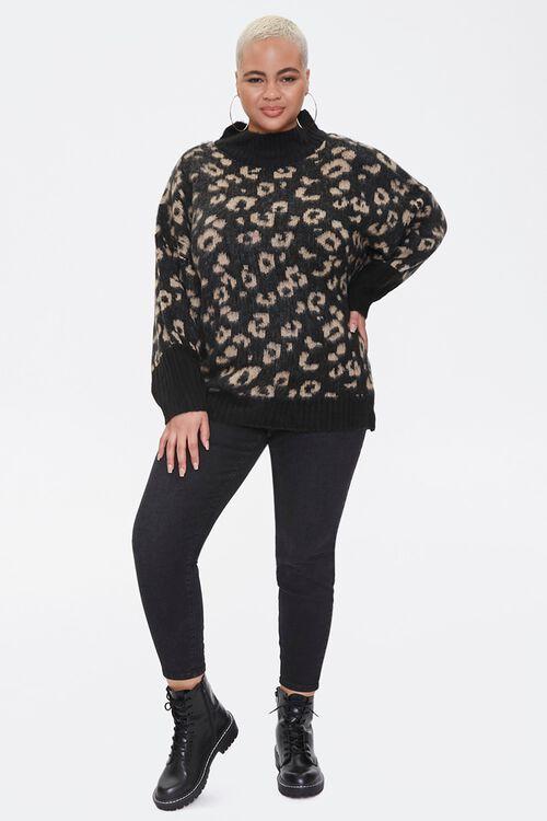 Plus Size Leopard Print Sweater, image 4