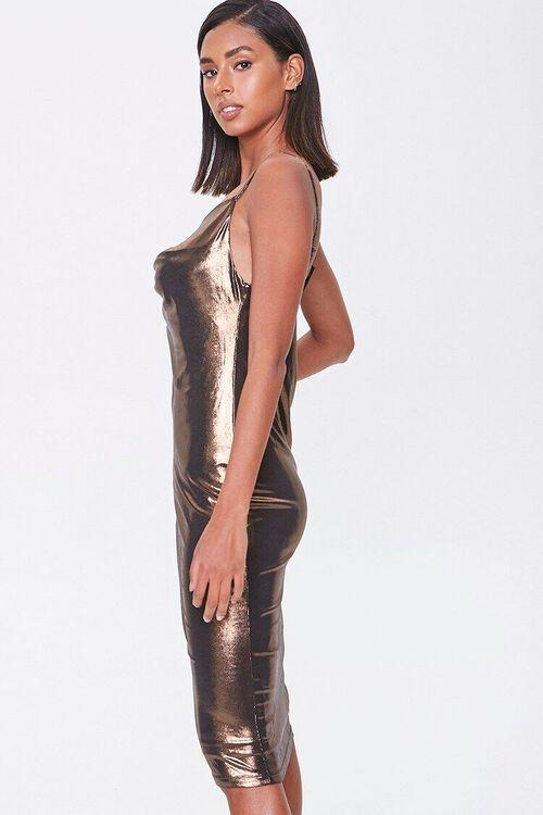 Metallic Cowl Neck Dress, image 2