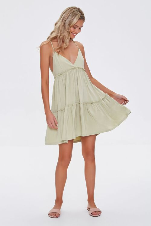 Tiered Fit & Flare Cami Dress, image 4