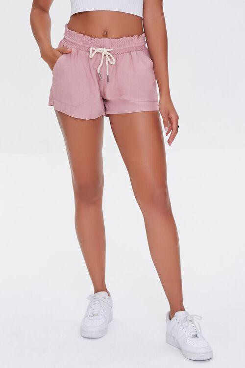 Linen-Blend Drawstring Shorts, image 2