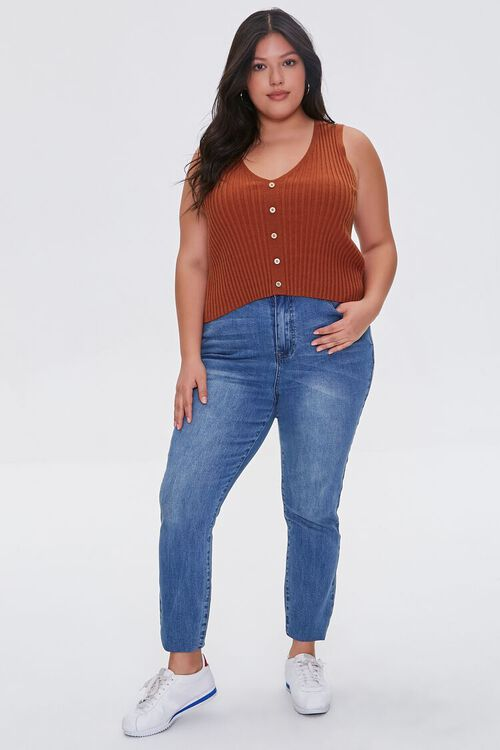 Plus Size Ribbed Sweater-Knit Vest, image 4