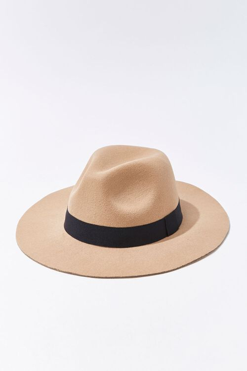 Faux Suede Contrast-Trim Fedora, image 2