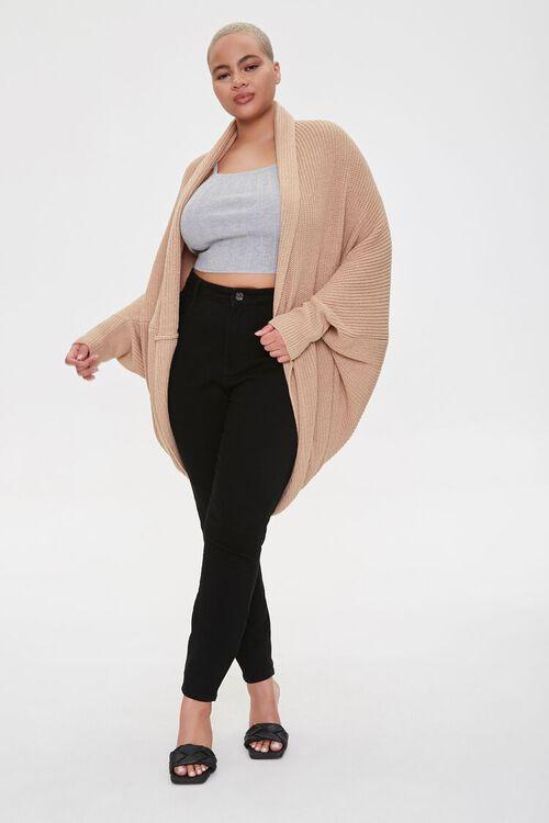 Plus Size Cocoon Cardigan Sweater, image 4