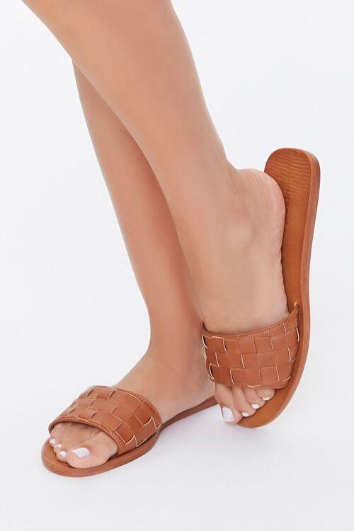 Basketwoven Slip-On Flat Sandals, image 1