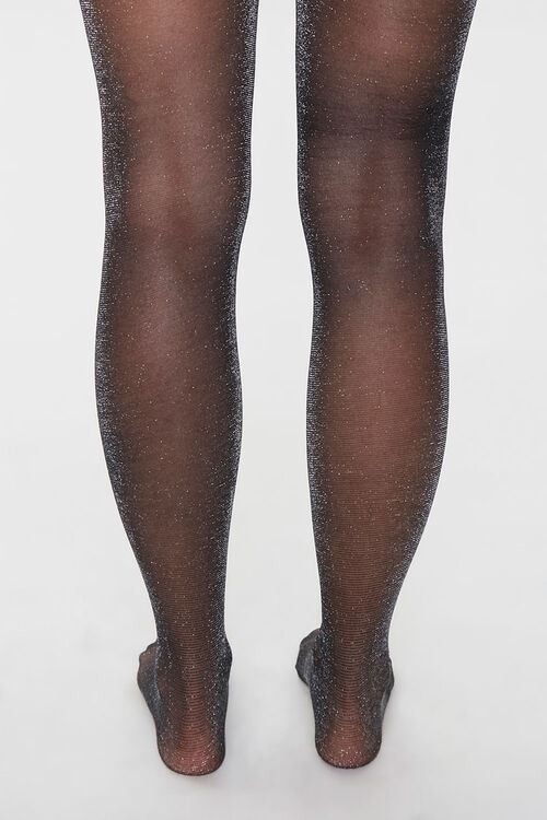 Sheer Glitter Knit Tights, image 3
