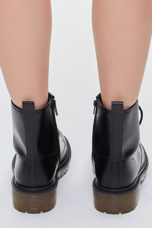 Faux Leather Zip-Up Booties, image 3