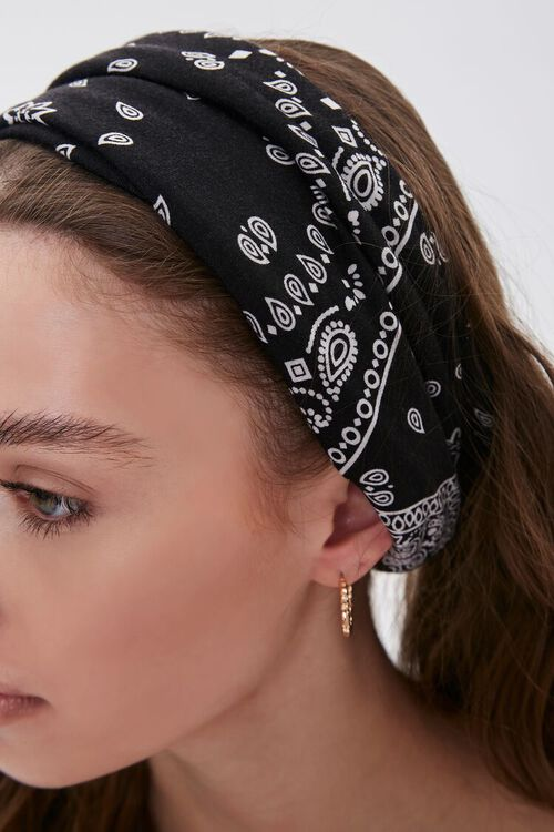 Soft Bandana Print Headwrap, image 2