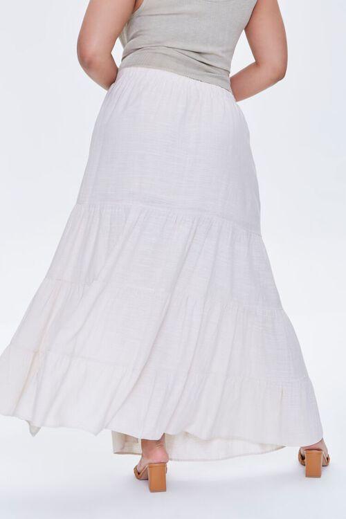 Plus Size Linen Maxi Skirt, image 4