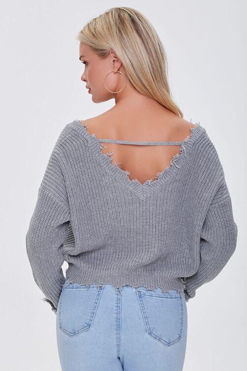 Ribbed Distressed-Trim Sweater, image 3