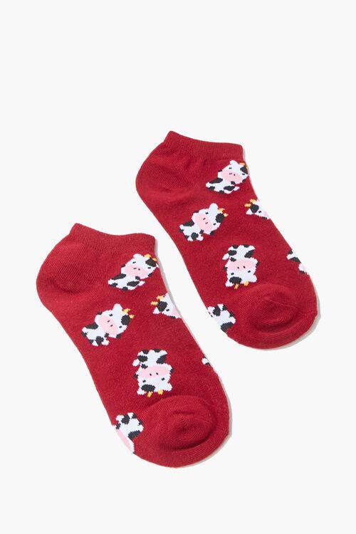 Cow Print Ankle Socks, image 2