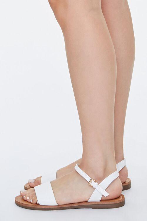 Faux Leather Flat Sandals, image 2
