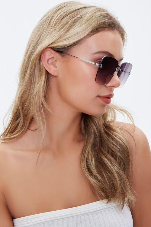 Ombre-Tinted Square Sunglasses, image 2