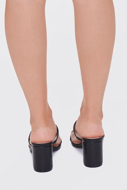 BLACK Metallic Slip-On Block Heels, image 3