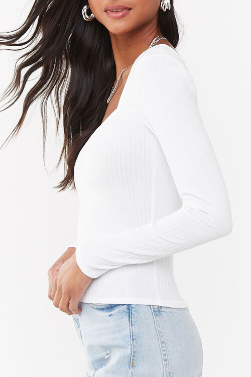 Pleated Square Neck Top, image 2