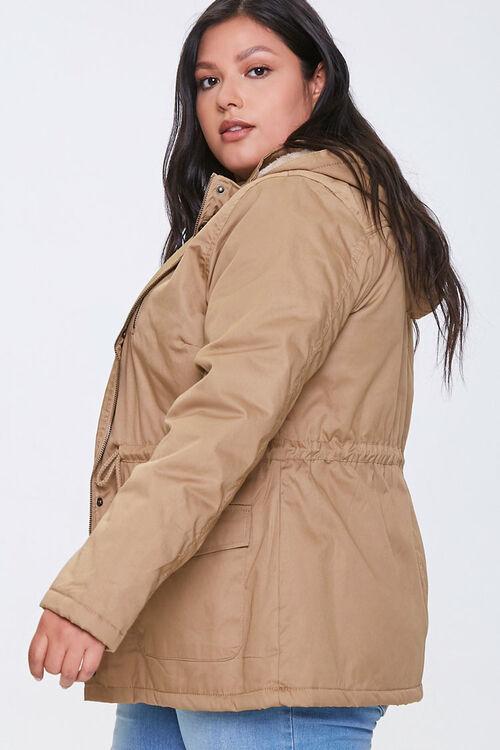 Plus Size Hooded Utility Jacket, image 2