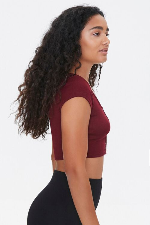 Active Button-Down Crop Top, image 2