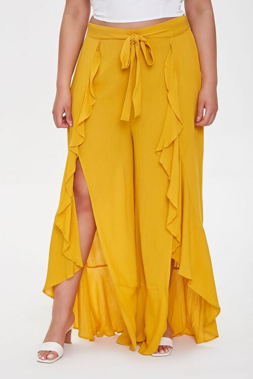 Plus Size Split-Leg Pants, image 2
