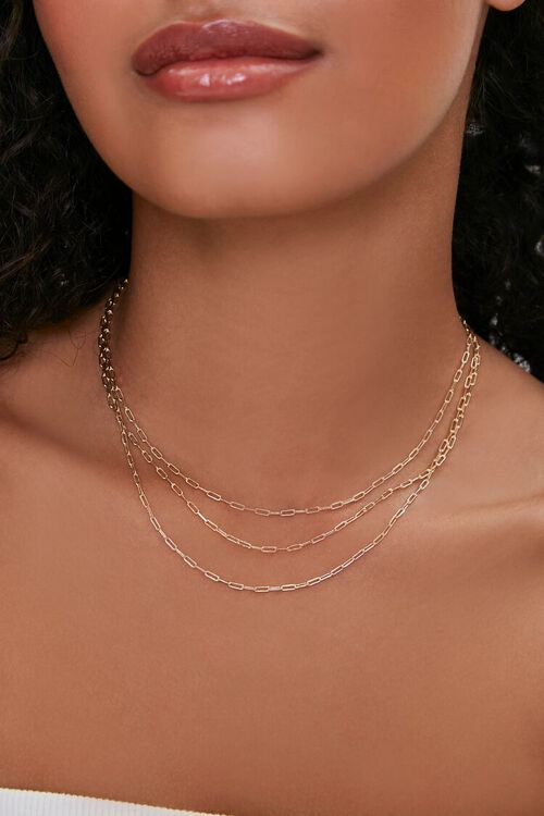 Anchor Chain Layered Necklace, image 1