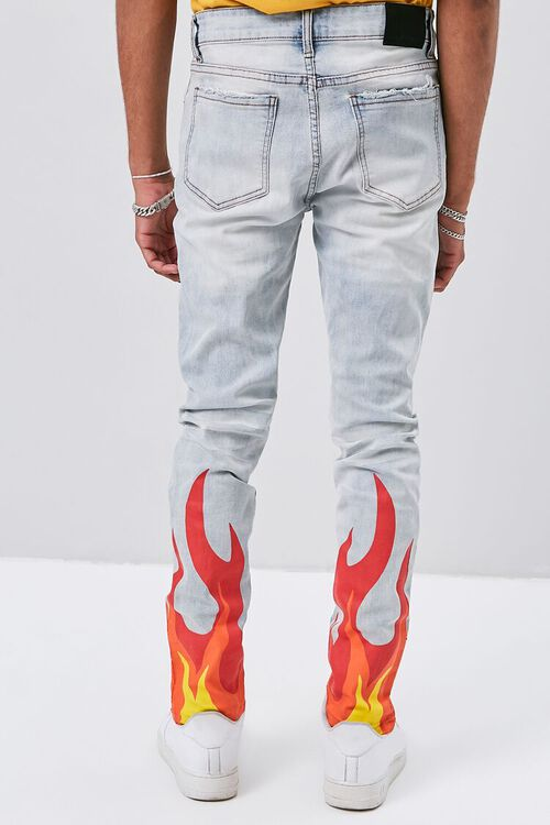 Flame Graphic Distressed Jeans, image 4