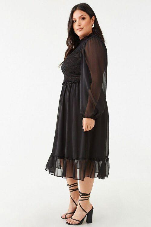 Plus Size Ruffle-Trim Dress, image 2