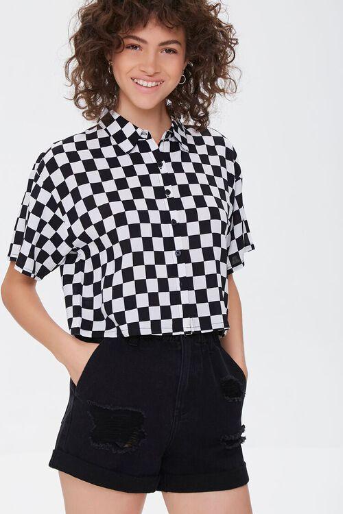 Checkered Print Shirt, image 1