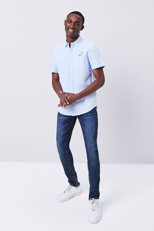 Fitted Embroidered Banana Pocket Shirt, image 5
