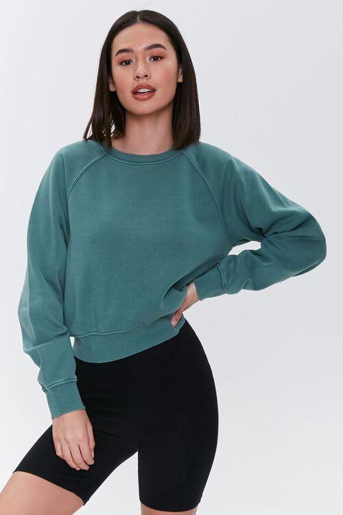 Fleece Raglan Sweatshirt, image 1